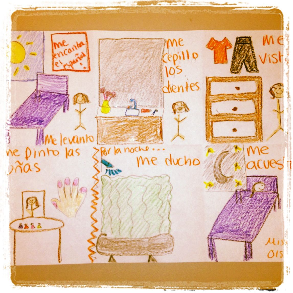 Teaching Reflexive Verbs Have Students Draw Out Their Daily Routine Student Drawing Reflexive Verbs Teaching [ 1146 x 1146 Pixel ]