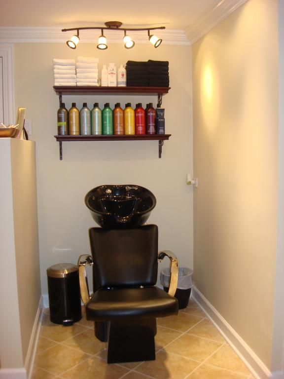 Shampoo area for the salon that i will someday have for Decoration salon simple