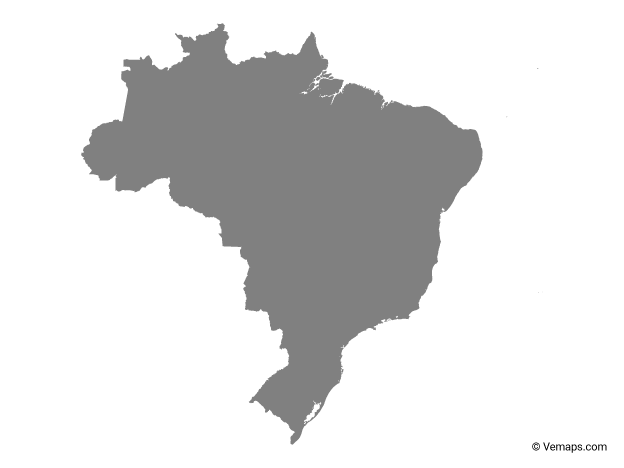 Grey Map Of Brazil Free Vector Maps Map Vector Vector Free Map