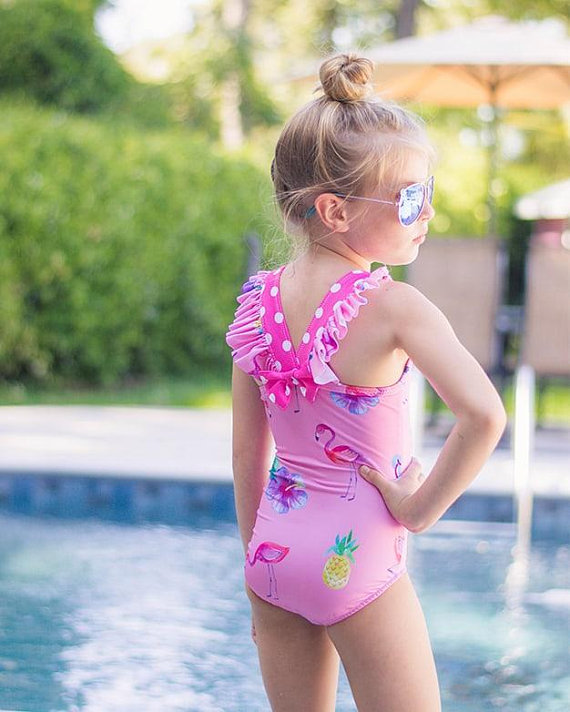 eeb6b00d7fac8 Harbor's Flutter Back Swimsuit Downloadable PDF Sewing Pattern Girls and  Toddler Sizes 2T-12