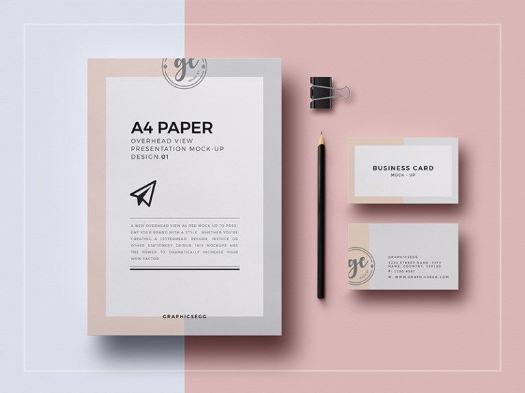 A Paper Overhead View Mockupfree Psd Mock Up Pinterest A - Invoice mockup psd free