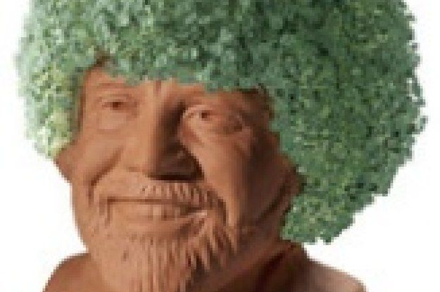 There Is A Bob Ross Chia Pet And I Am Crying Happy Little Tears Chia Pet Bob Ross Bob
