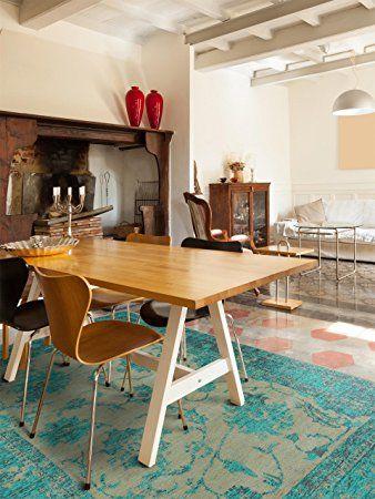 benuta Teppiche Moderner Designer Teppich Vintage Frencie Flora - moderne wohnzimmer teppiche