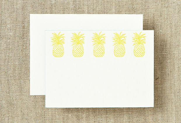 Pineapple enclosure cards! ...I still use them all the time