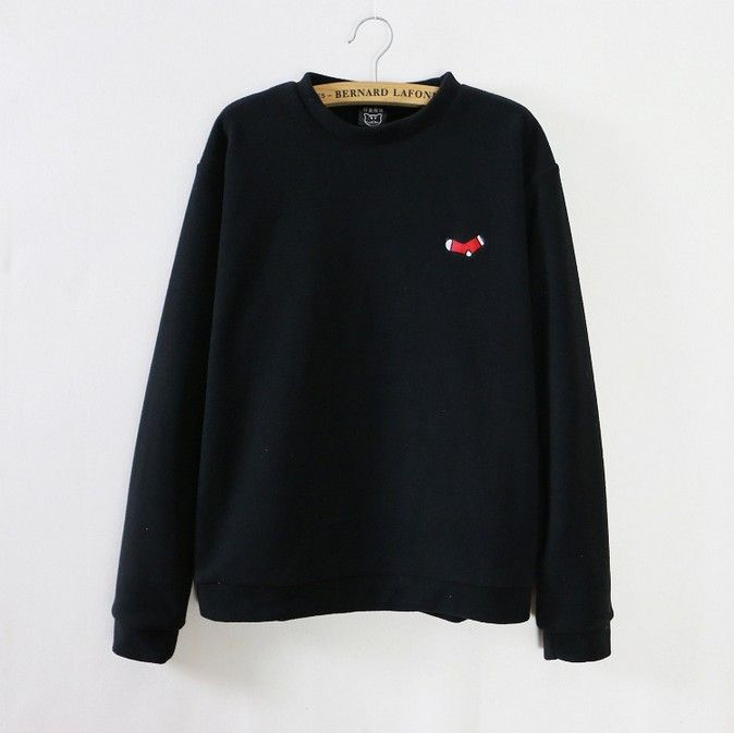 Christmas gift Embroidery Santa Claus/Socks/Christmas tree/reindeer Polar fleece hoodies women winter warm sweatshirts