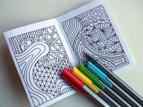 Mini Zine Printable Zentangle Inspired Coloring Book