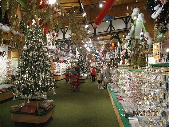 View 1 Inside Bronners Christmas Store by TravelPod Member Socks ...
