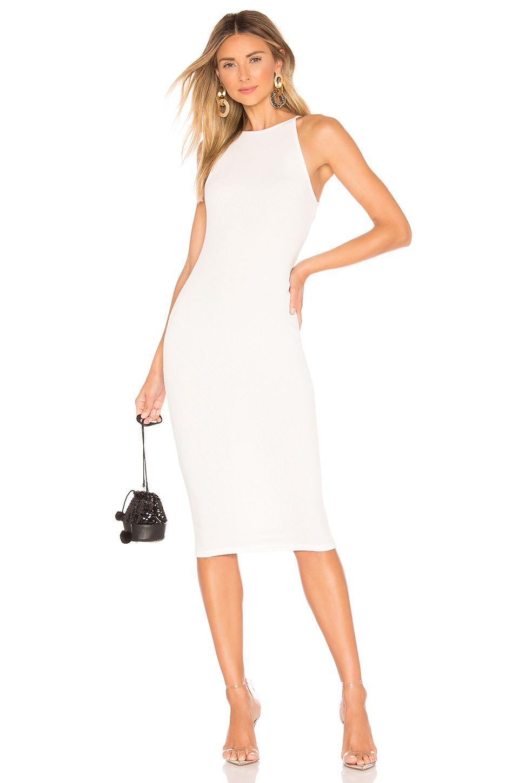 Superdown Katy Ribbed Midi Dress In White Ribbed Midi Dress White Dress Fashion [ 1450 x 960 Pixel ]