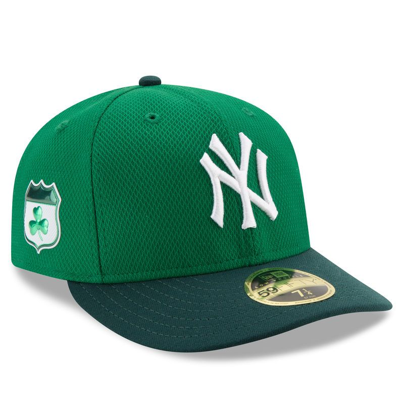 f54d785286d New York Yankees New Era 2017 St. Patrick s Day Diamond Era 59FIFTY Low  Profile Fitted Hat - Green