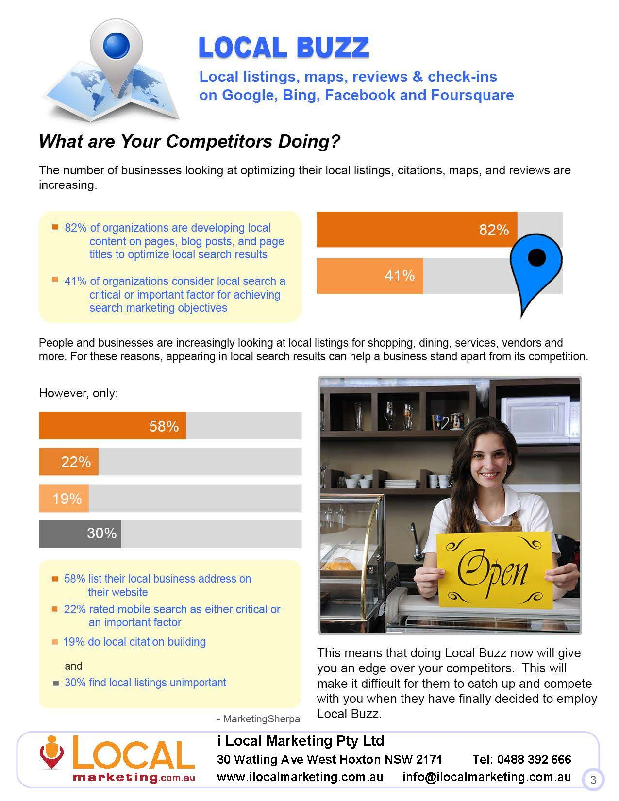 What are Your Competitors Doing? The number of businesses