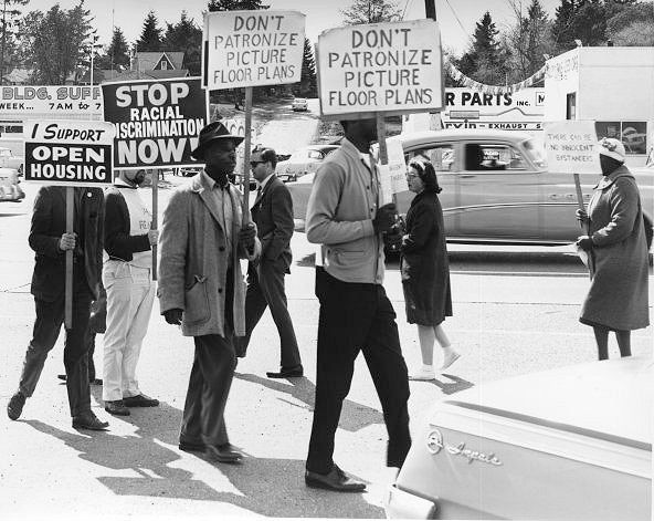 Open Housing Demonstration In Seattle In The Spring Of 1964 The Open Housing Campaign 1959 68 Was Part Washington State History How To Plan Civil Rights March