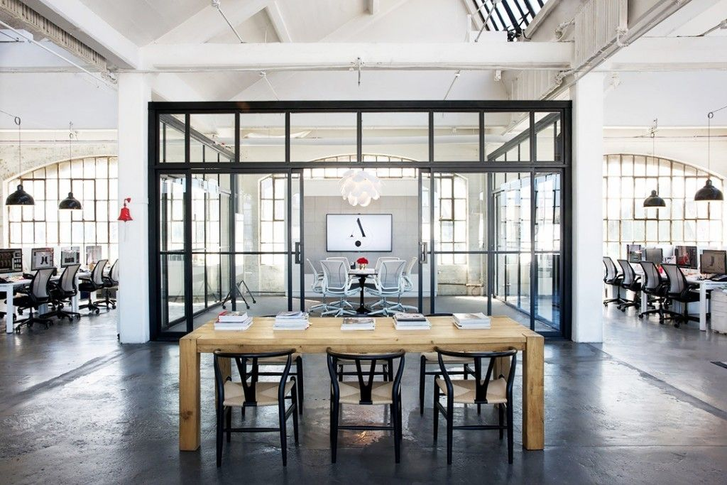 Nancy Meyers The Intern Office Loft Set Design Industrial Style Modern