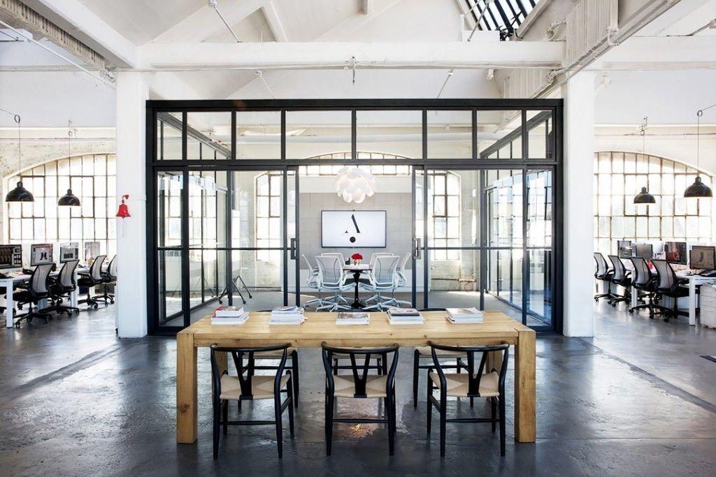 Nancy Meyers The Intern Office Loft Set Design Industrial Style