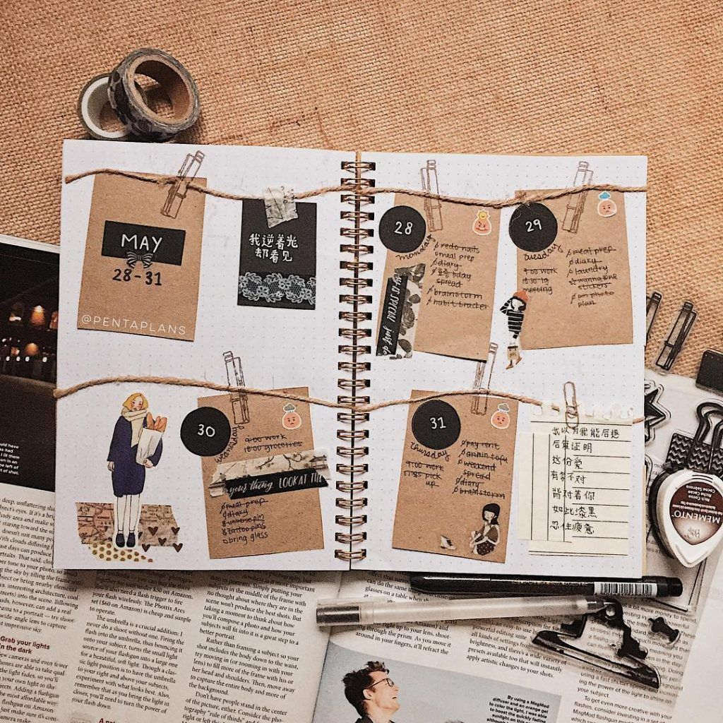 21 Delicious Brown Bullet Journal Theme Ideas With Images