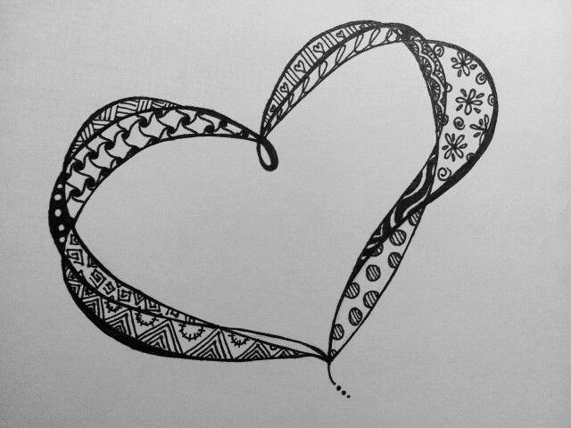 Zentangle Heart | My Zentangle / Doodle / Art Stuff | Pinterest ...