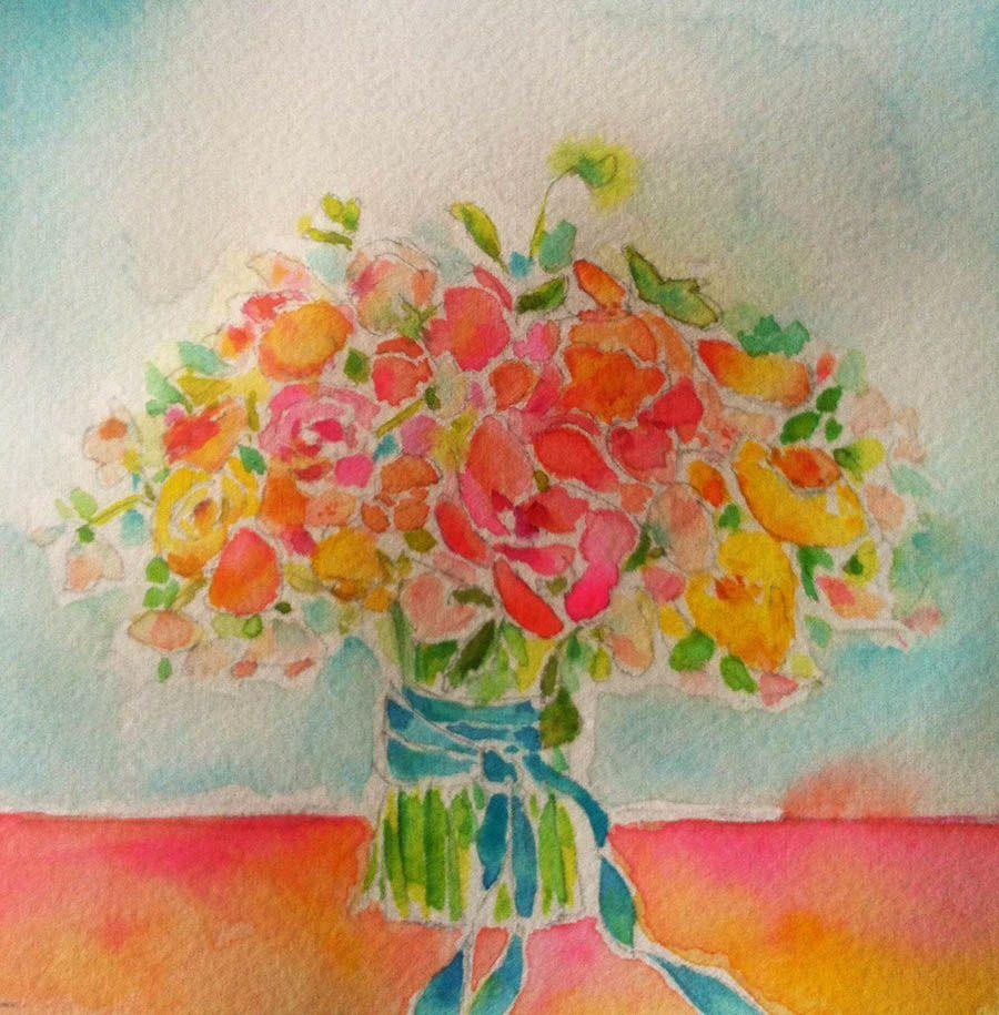 art by kae pea from flower power online workshop