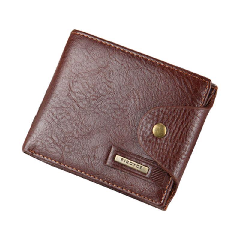 핫 남성 지갑 가죽 품질 보증 짧은 지갑 동전 포켓 블랙 브라운 지갑 지퍼 가방 다기능 도매