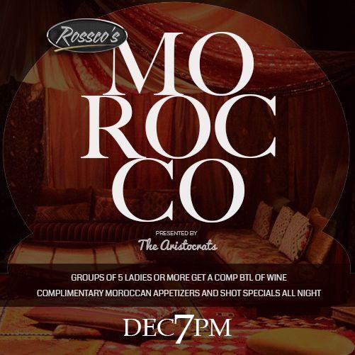 Invitation design for event at Rossco's Lounge & Bar.