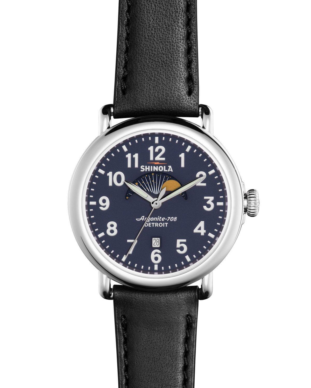8cbfc9139 41mm Runwell Moon Phase Watch, Black - Shinola | *Neiman Marcus ...