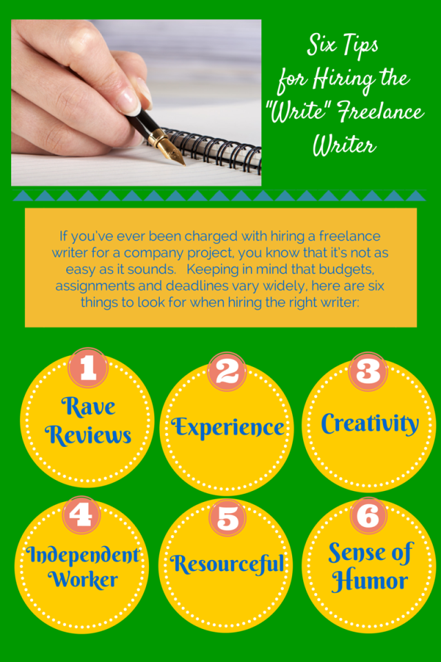 Six Tips for Hiring the Write Writer