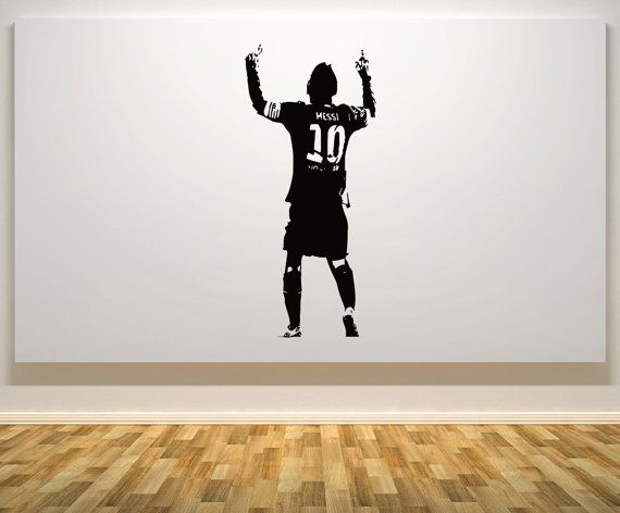 lionel messi football soccer player argentina argentinian on wall stickers painting id=54107