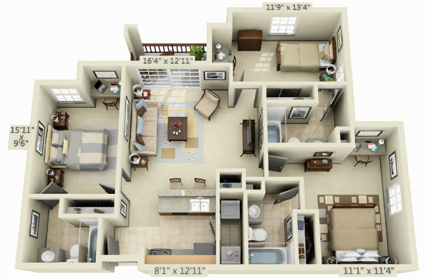 3 Bedroom 3 Bath Sims House Design House Layout Plans Sims House