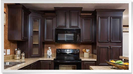 Champion Homes Staggered Cabinets Kitchen Cabinets Kitchen Cupboard Designs Cherry Cabinets