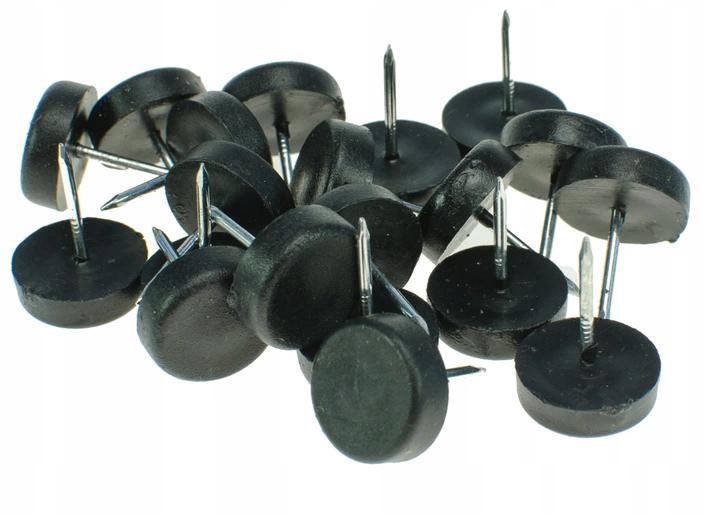 Slizgacz Meblowy Czarny 15mm Wbijany 500 Sztuk Cup Supplies Push Pin
