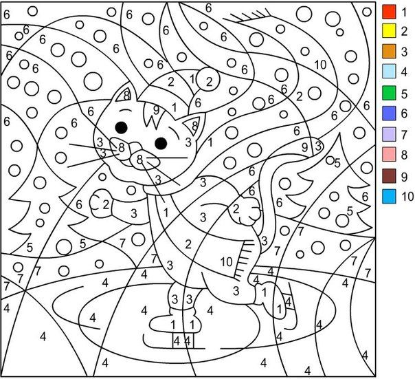 nicoles free coloring pages winter coloring pages - Color Number Winter Worksheets