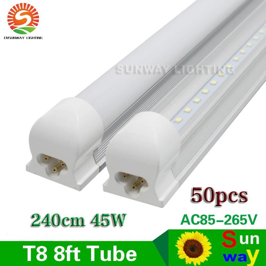 Find More Led Bulbs Tubes Information About T8 Integrated 8ft Led Tube 96 2 4m 45w Bar Lights Ac85 265v Cooler Door B Led Tube Light Led Tubes Bar Lighting