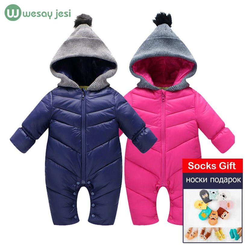 d07513691eca Newborn Baby winter clothes Baby snowsuit duck down Rompers ...