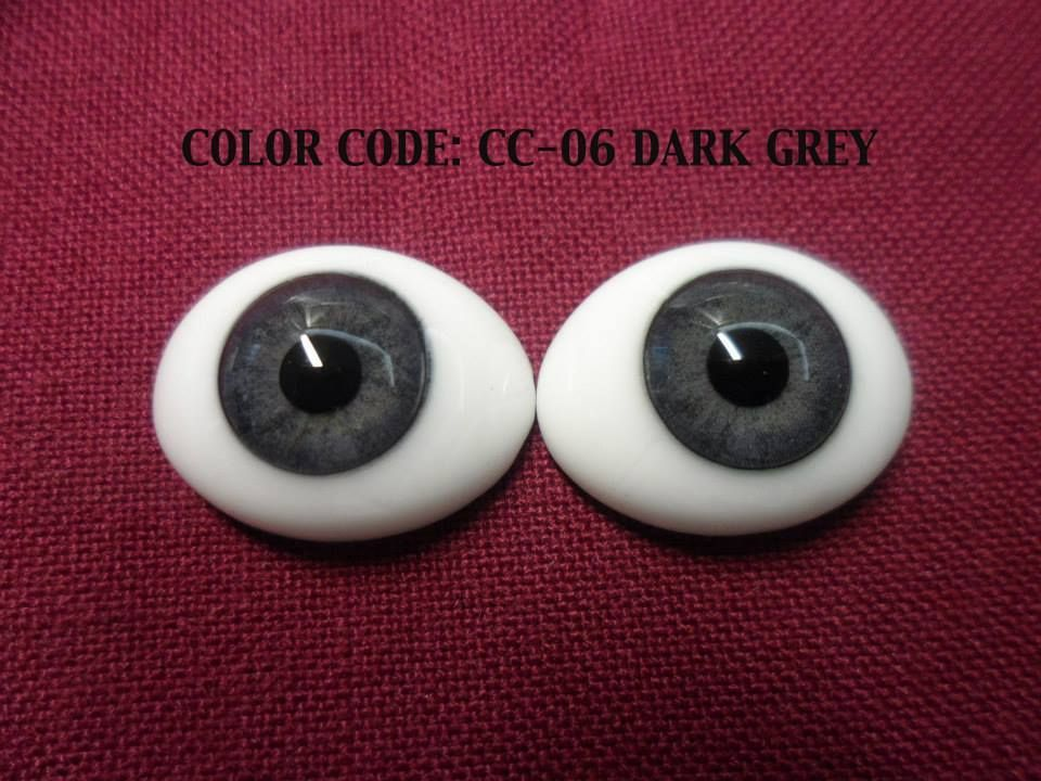 Reborn Doll Eyes by Pabol New Dark Grey 24MM FAST Shippng