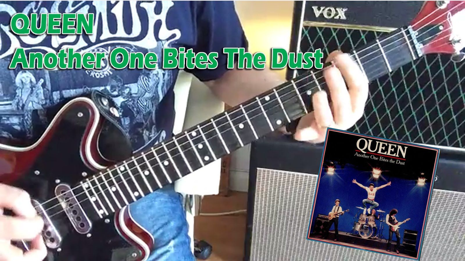 Queen Another One Bites The Dust Guitar Tutorial Lesson With