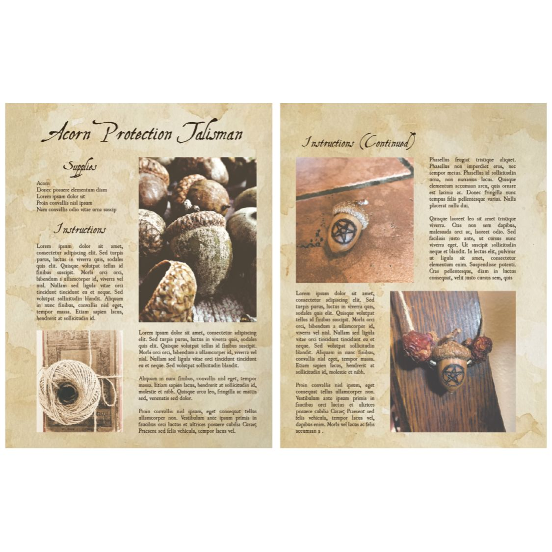 Oak Protection Talisman Book Of Shadows Pages From