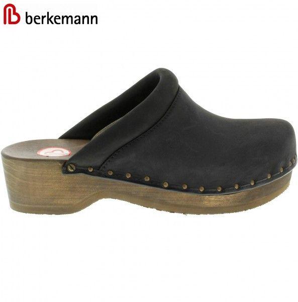 Berkemann Soft-Toeffler Wooden Clogs - Brown or Black