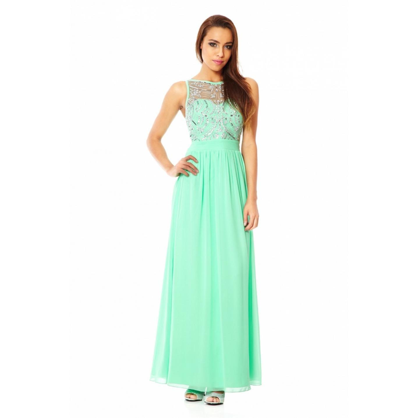 trends-mint-green-maxi-dress- | Chiffon Maxi Dress | Pinterest ...