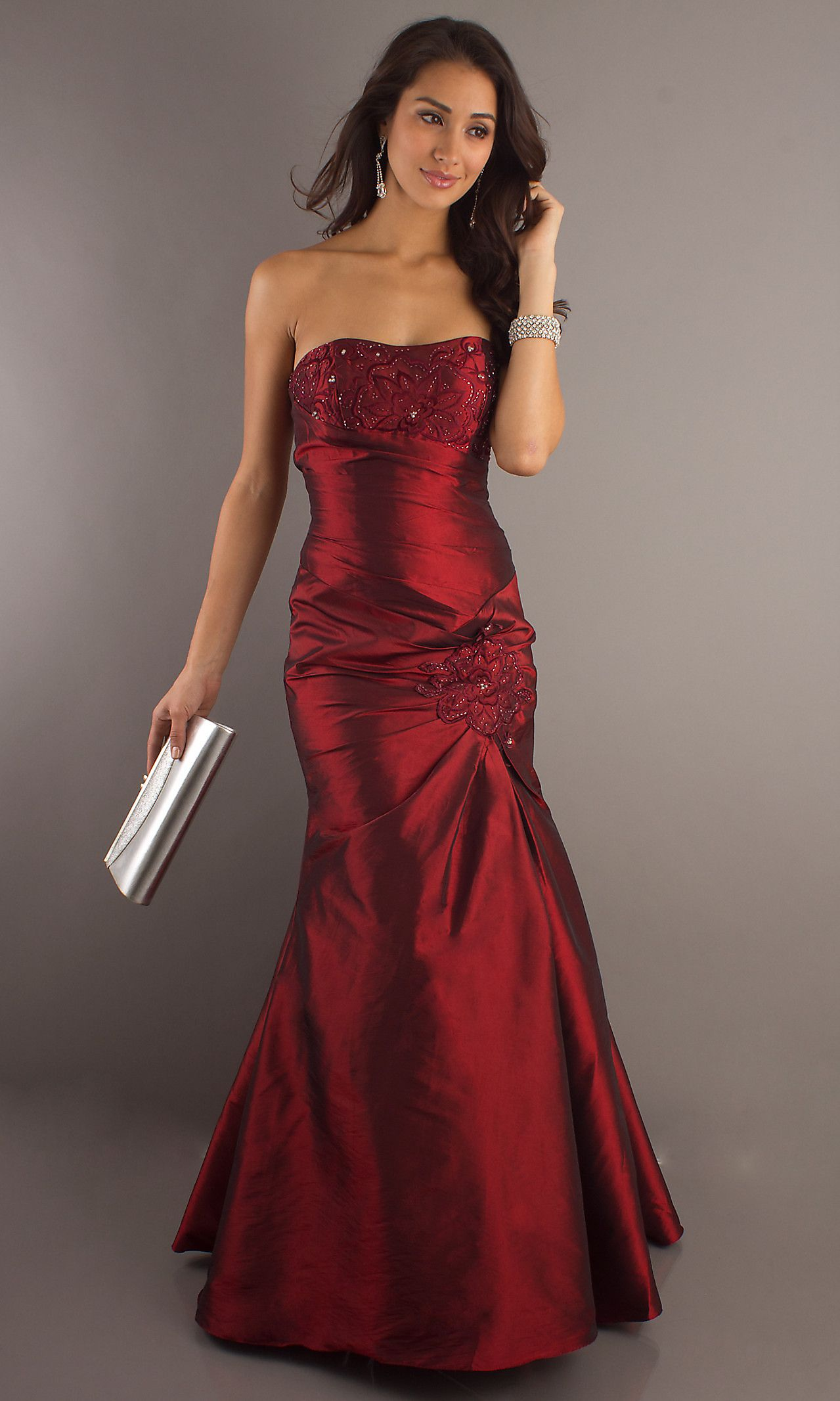 STRAPLESS FORMAL DRESS FOR PROM BY SALLY FASHIONS 29283 Be red ...