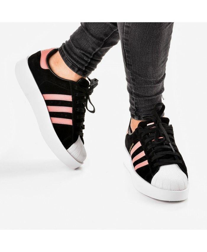 Adidas Superstar Bold w platform Womens Trainers In Black
