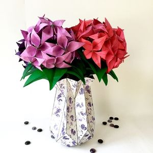 Large origami flower bulbs in large origami vase origami large origami flower bulbs in large origami vase mightylinksfo
