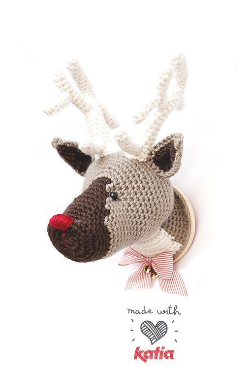Patrón Amigurumi: Alegra tu hogar con el reno mágico de la Navidad ...
