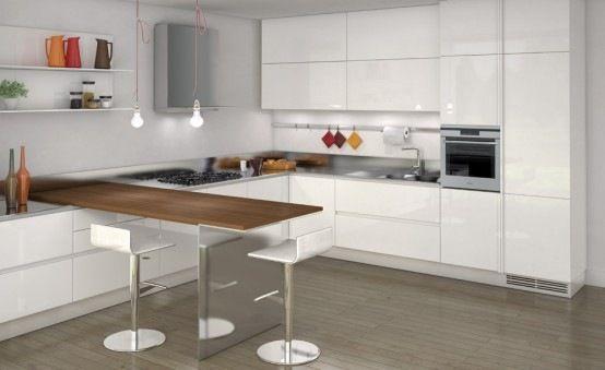 cocina Casa Pinterest Cocina minimalista, Detalles en madera y - cocinas pequeas minimalistas