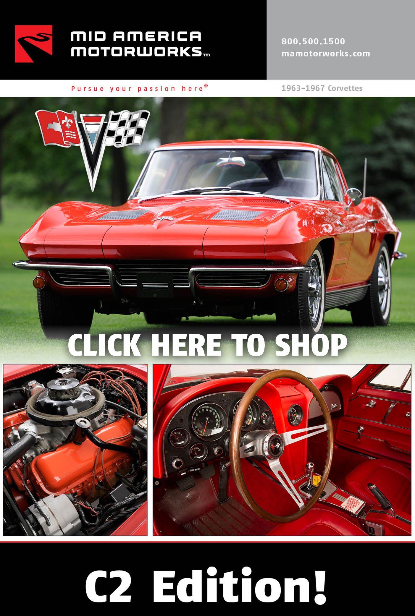 1963 1967 C2 Corvette Click N Shop Electronic Catalog Http Www Mamotorworks Com Corvette Catalogviewer 1963 1967 C2 Corvette Corvette Catalog Catalog Cover