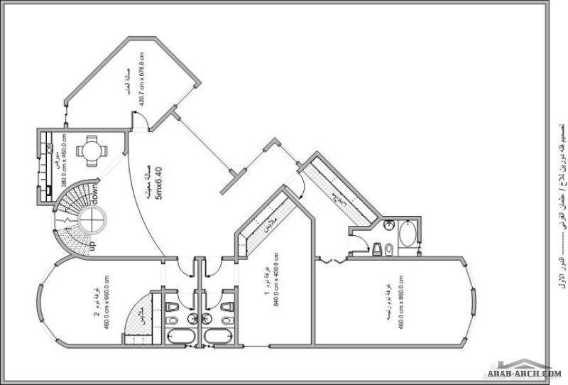 تصميم فيلا زاوية على ارض مستطيلة 30 21 متر Floor Plans Villa How To Plan