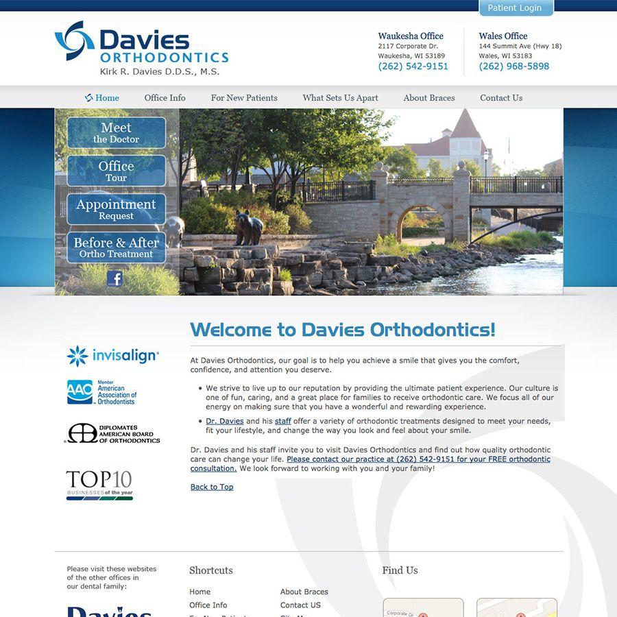 Sesamewebdesign Psds Classic Ortho Full Width Blue White Gray Top Nav Serif Sans Texture Doctor Office Orthodontics Ortho