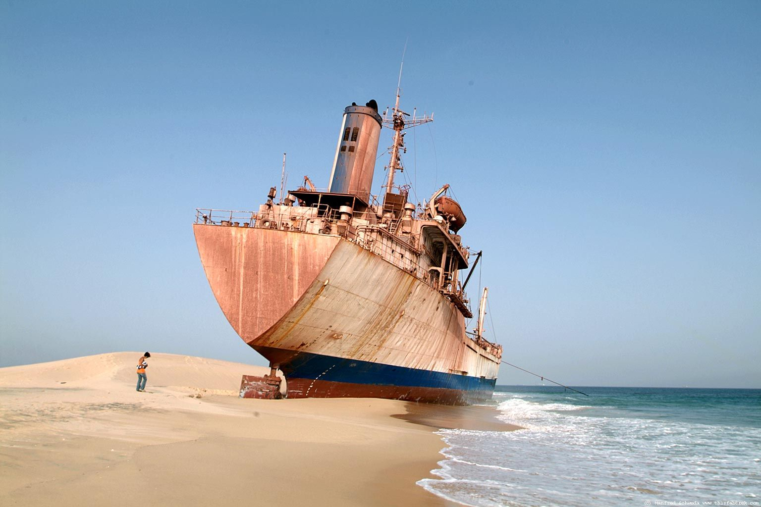 Beached ship wreck Abandoned Ships, Abandoned Vehicles, Africa Travel, Ship  Wreck, North
