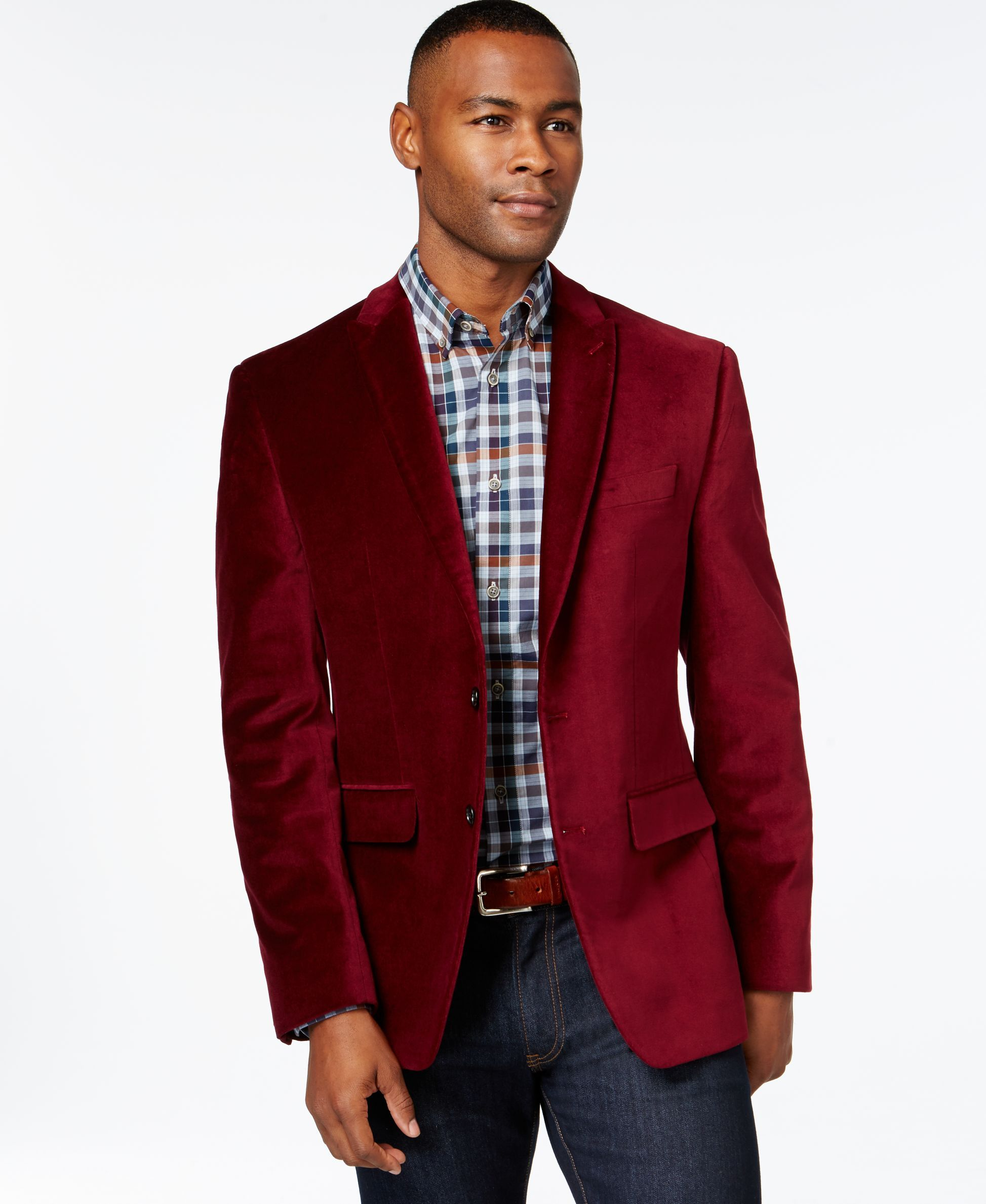 Argyle Culture Burgundy Velvet Blazer | Fashion Trends | Pinterest ...