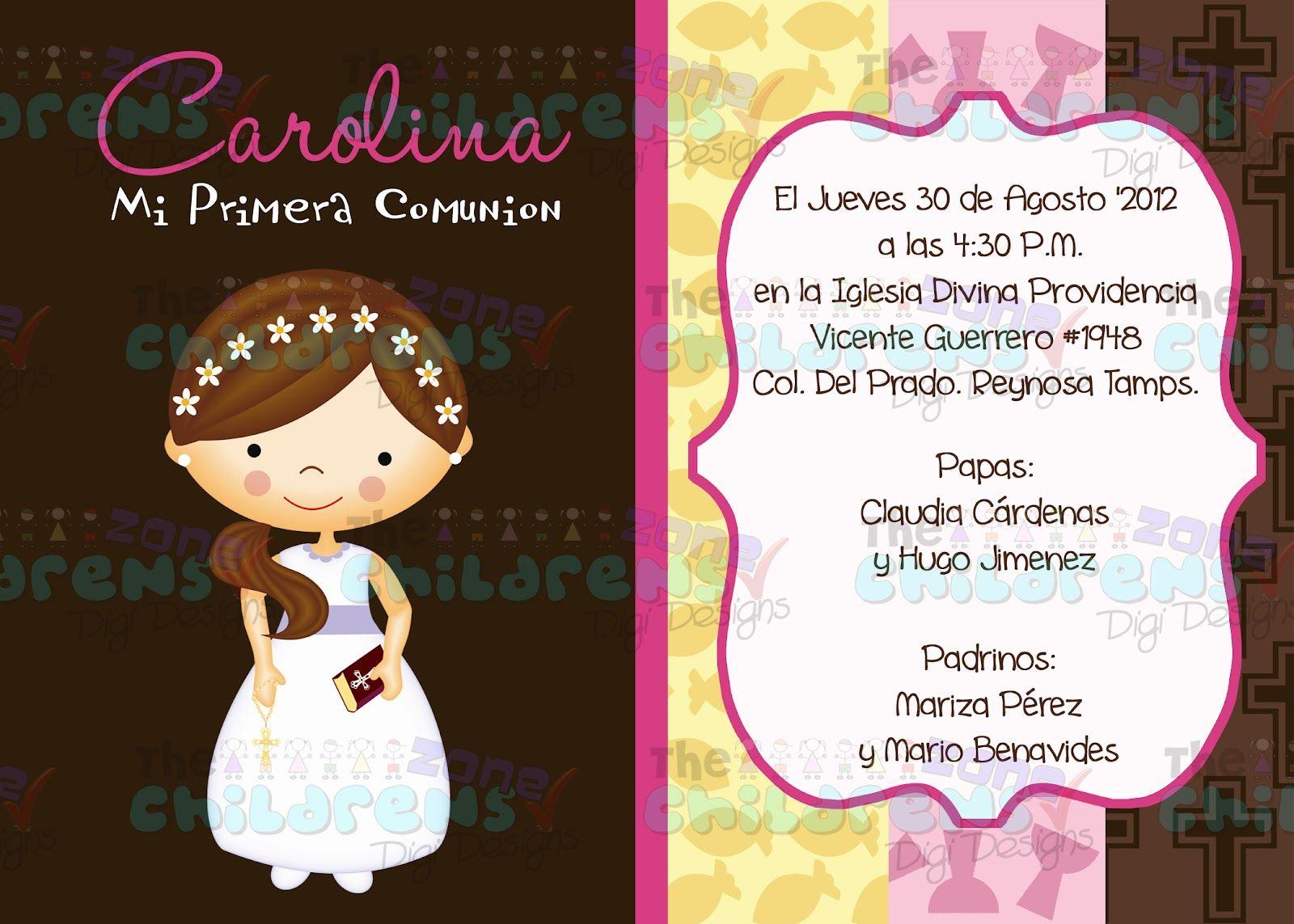 invitaciones para presentacion
