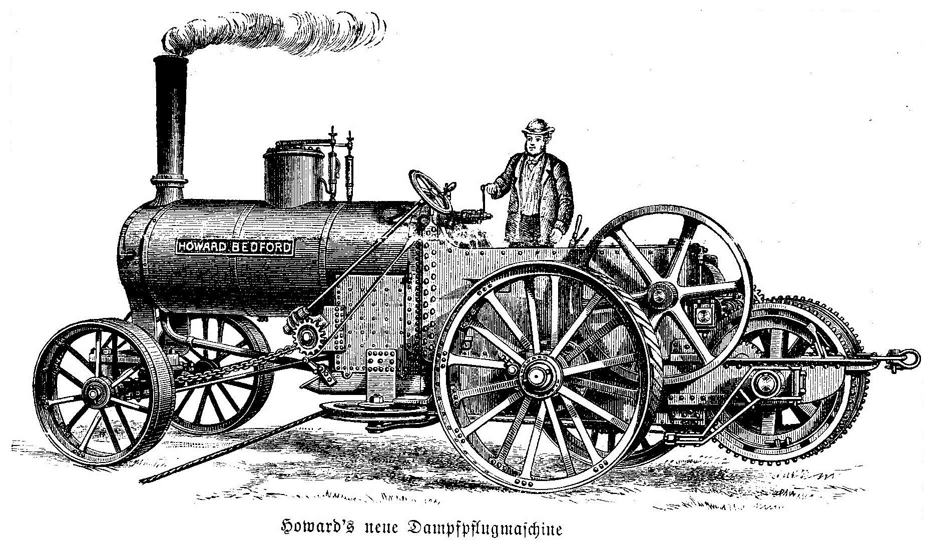 Steam Plow Engine 1886