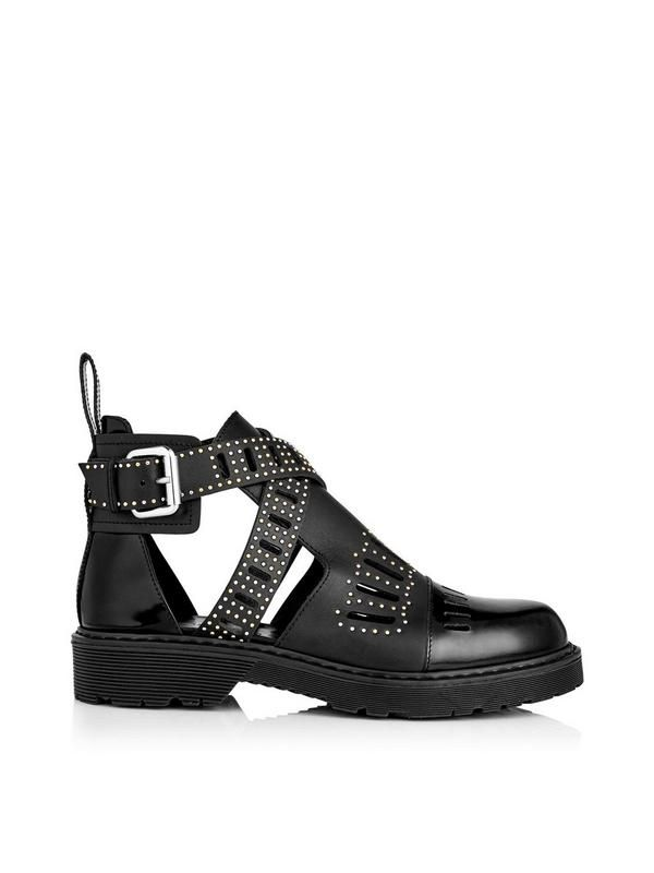 MCQ ALEXANDER MCQUEEN Dalston Cut Out Boot - Black | veryexclusive.co.uk