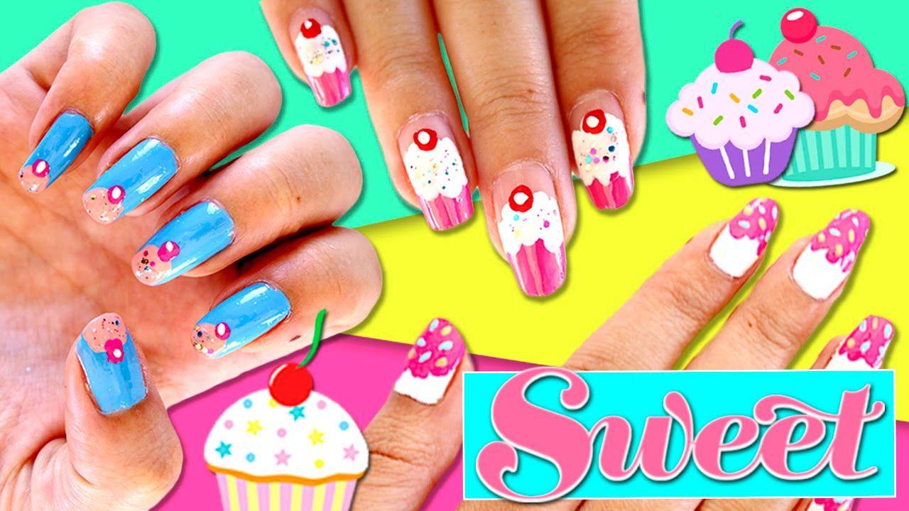 U as decoradas con esmalte sencillas y bonitas 3 dise os de u as cupcakes para ellas for - Unas bonitas decoradas ...